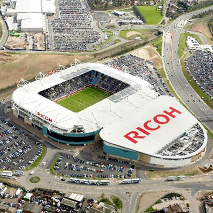 Aerial photograph of Ricoh Arena Coventry UK, Arc Consulting Partners