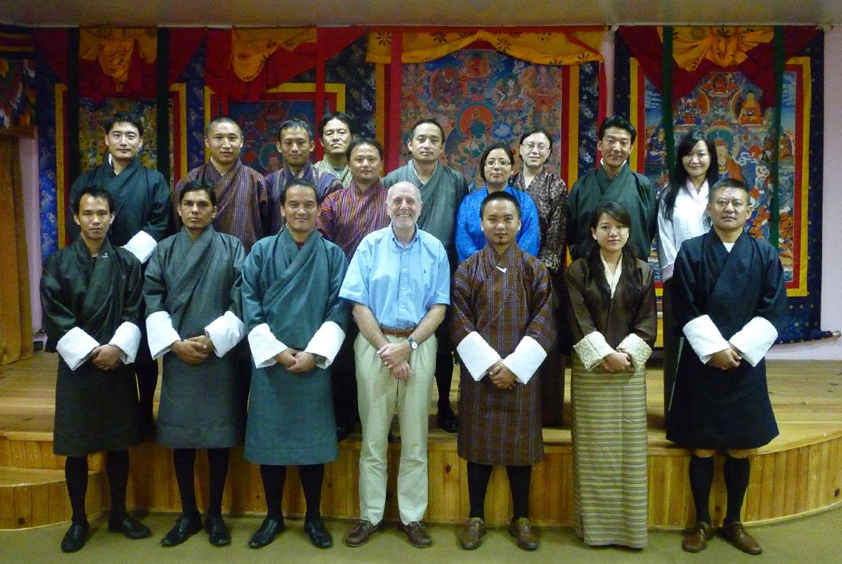 Jim Fletcher with Bhutan tourism workshop participants